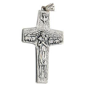 Pectoral cross Good Shepherd metal 10x7cm s3