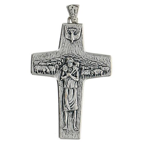 Pectoral cross Good Shepherd metal 10x7cm 1
