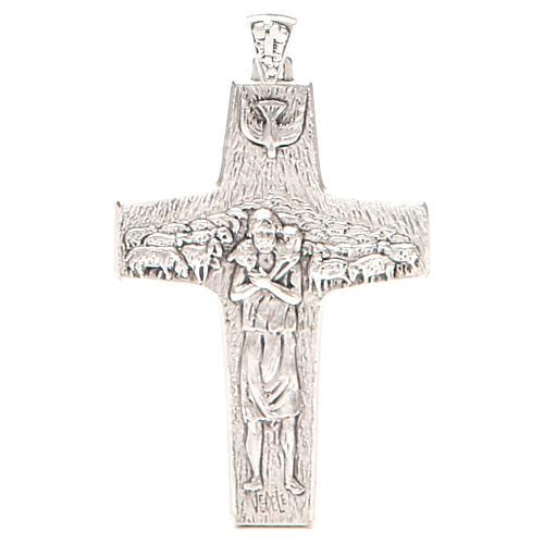 Croce pettorale Buon pastore metallo 10x7 cm 1