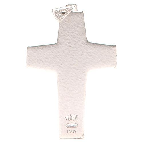 Croce pettorale Buon pastore metallo 10x7 cm 2