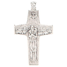 Pectoral cross Good Shepherd metal 10x7cm s1