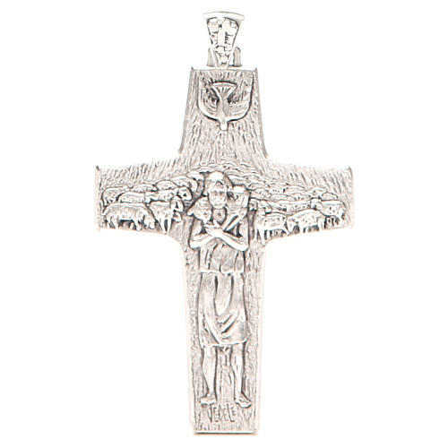 Pectoral cross Good Shepherd metal 10x7cm 1
