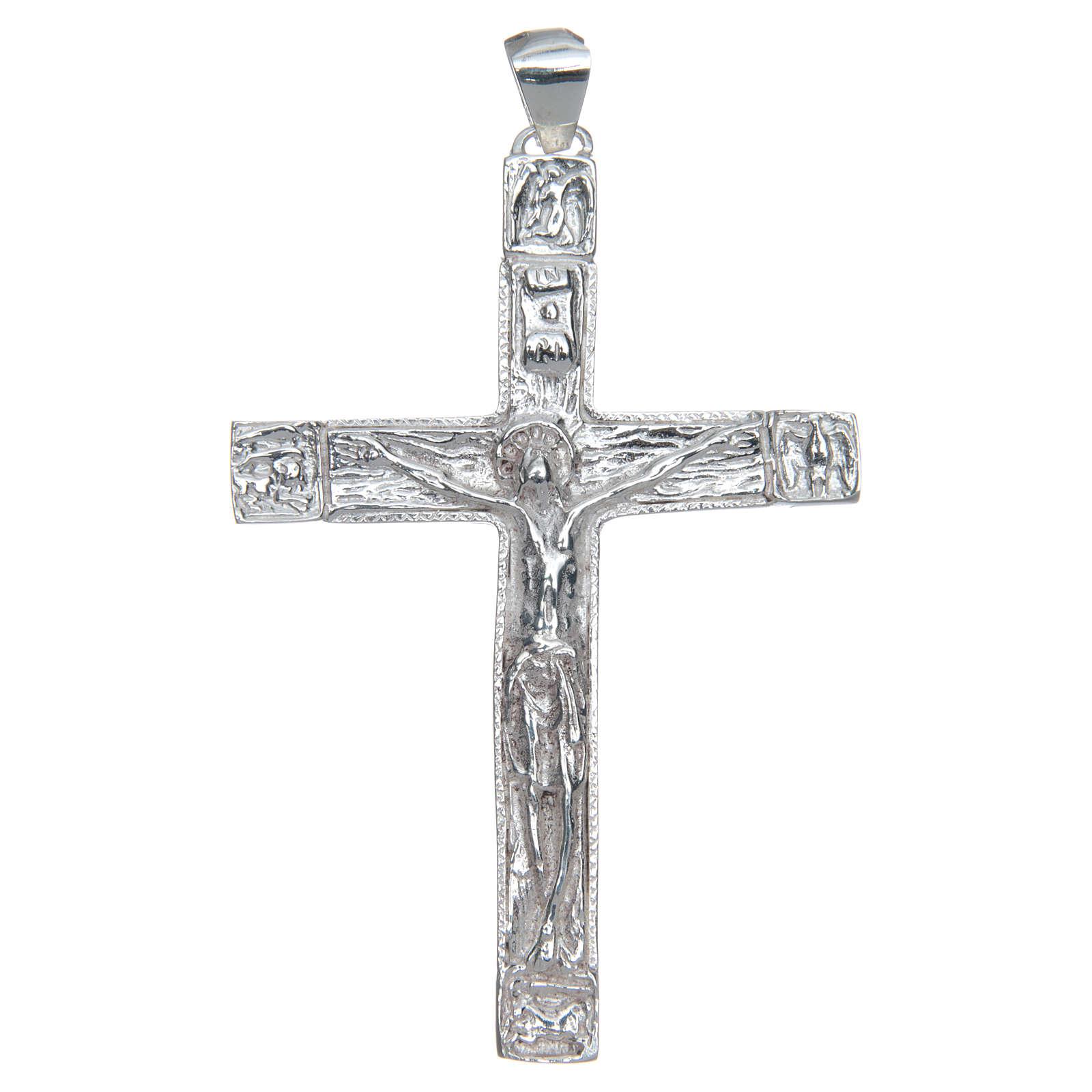 Croce pettorale Crocefisso Argento 925 3