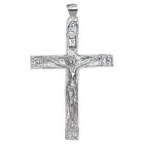 Croce pettorale Crocefisso Argento 925 s1