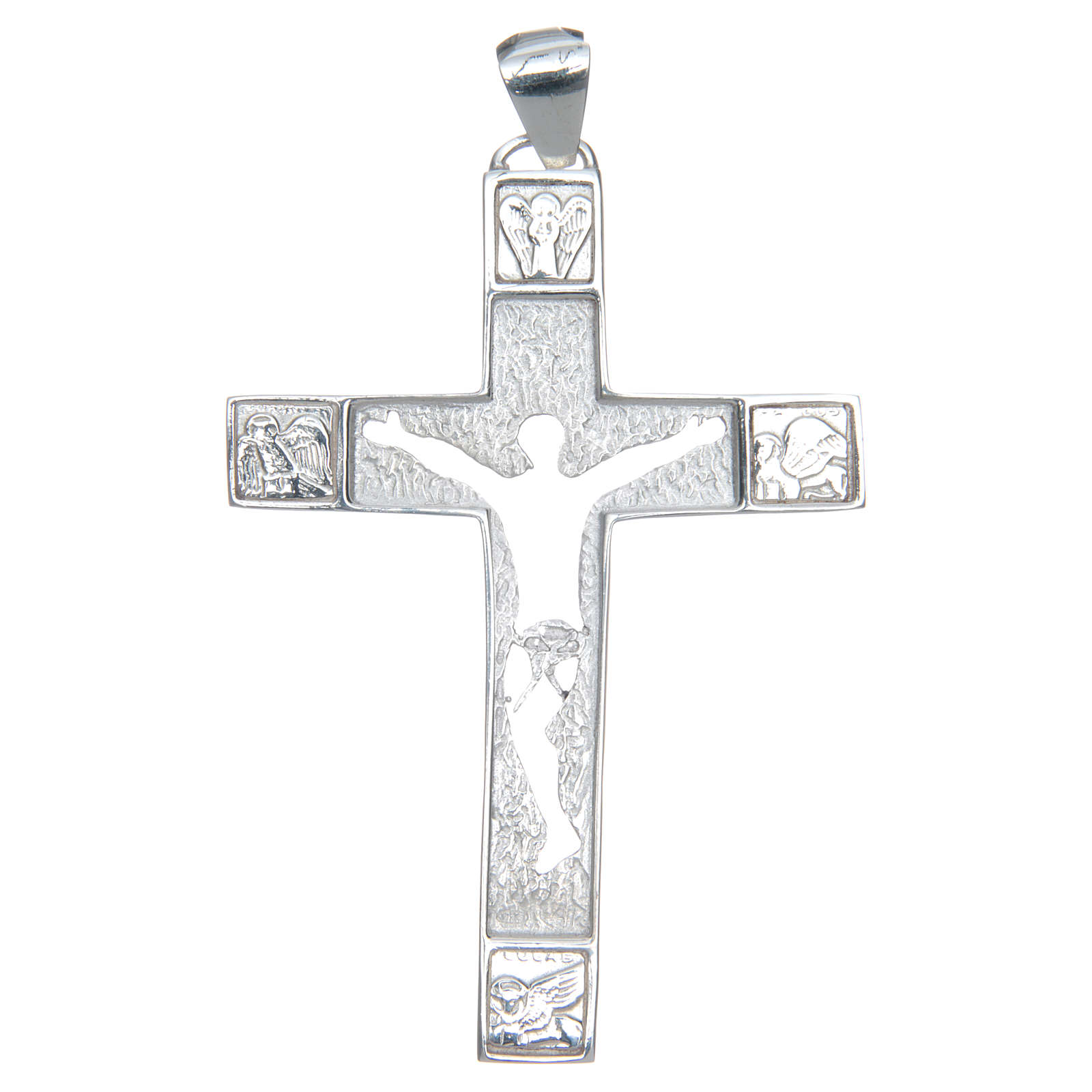 Cruz pectoral plata 925 perforada Cuerpo de Cristo 3