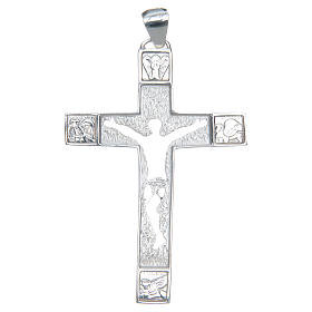 Cruz pectoral plata 925 perforada Cuerpo de Cristo s1