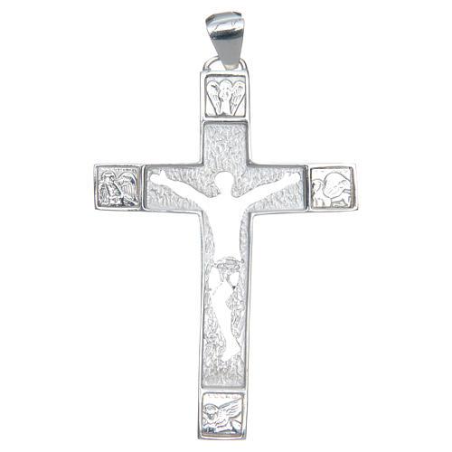 Cruz pectoral plata 925 perforada Cuerpo de Cristo 1