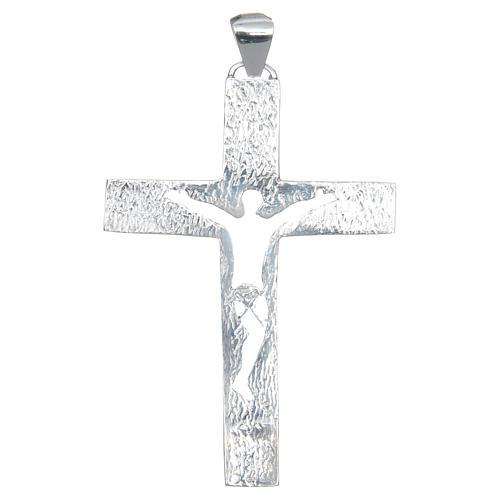 Cruz pectoral plata 925 perforada Cuerpo de Cristo 2