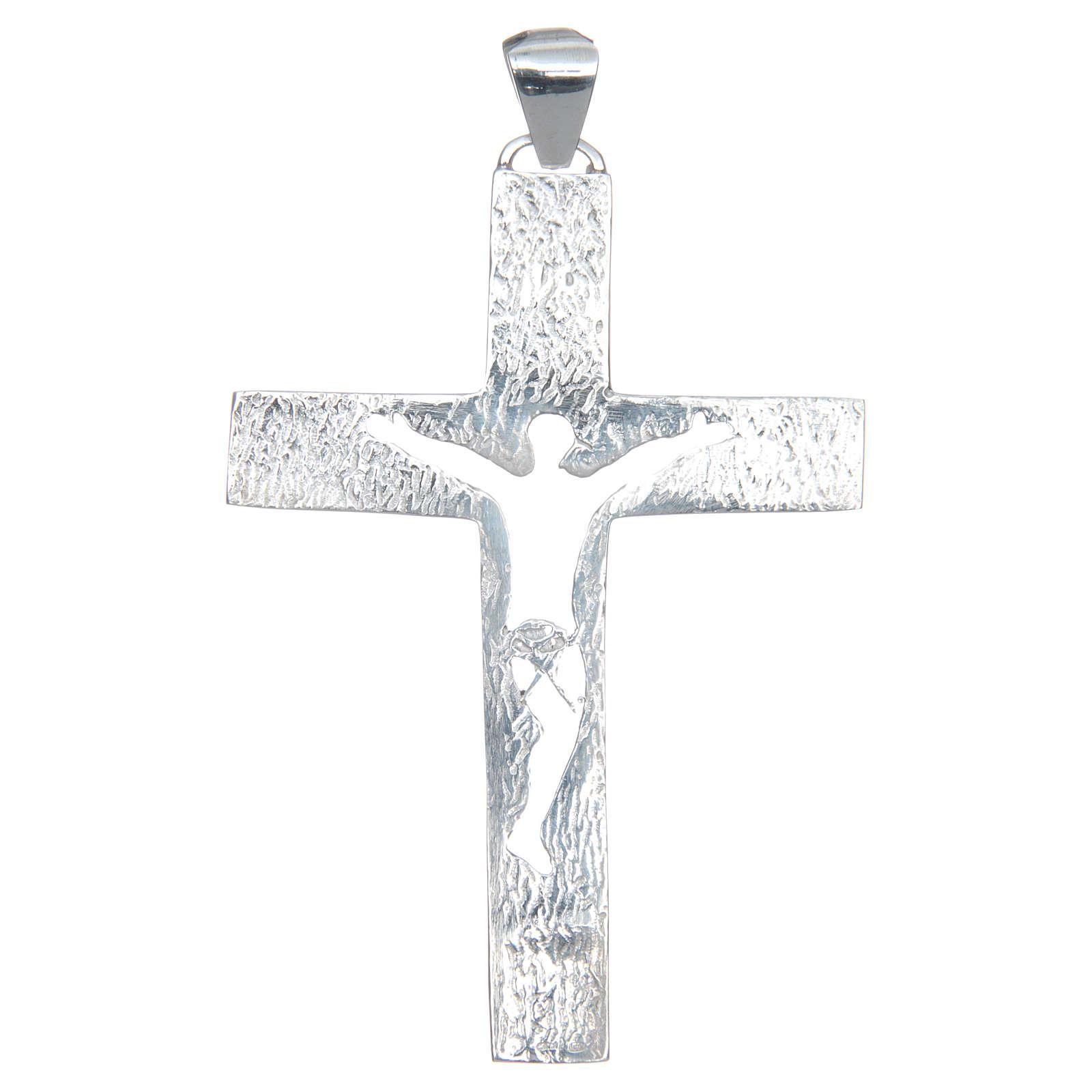Croce pettorale Argento 925 corpo traforato 3