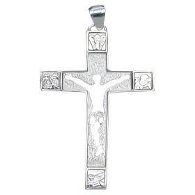Croce pettorale Argento 925 corpo traforato s1