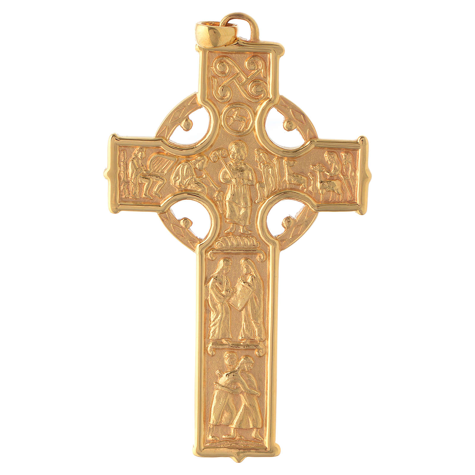 Croce pettorale Molina stile celtico argento 925 scene 3