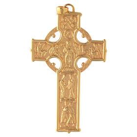 Croce pettorale Molina stile celtico argento 925 scene s1