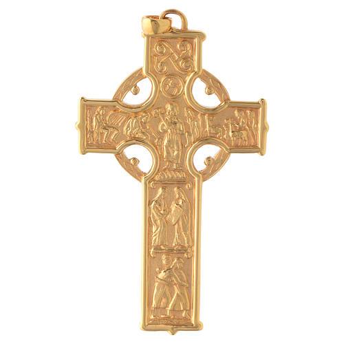 Croce pettorale Molina stile celtico argento 925 scene 1