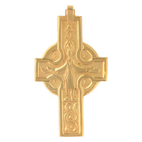 Croce vescovile Crocifisso Argento 800 dorato s1