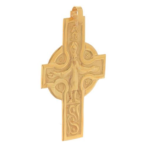 Croce vescovile Crocifisso Argento 800 dorato 2