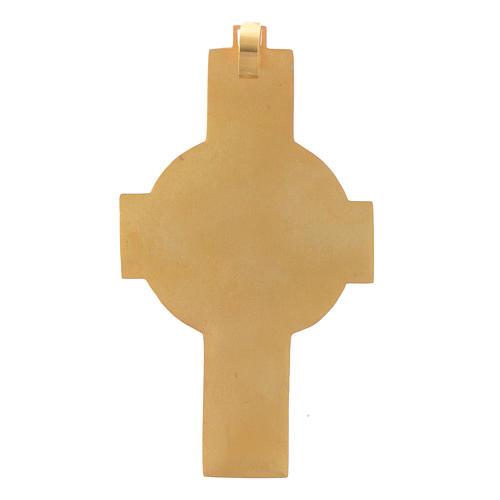 Croce vescovile Crocifisso Argento 800 dorato 3