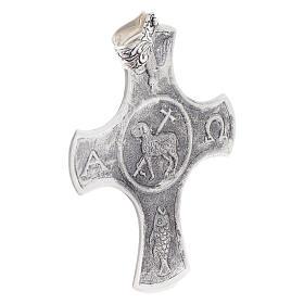 Croce vescovile Agnello pasquale argento 925 s2