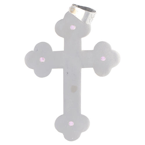 Croce pettorale Ametista e Argento 800 3