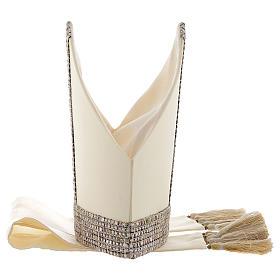 Mitra aus 100 % Wolle mit Schmuckband aus Chanel-Stoff s5