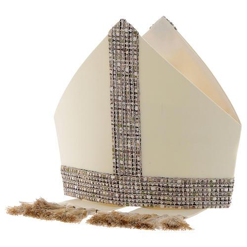 Mitra tela 100% lana con banda en tejido Chanel 4
