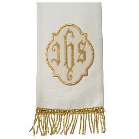 Mitra marfil bordados IHS terciopelo oro s5