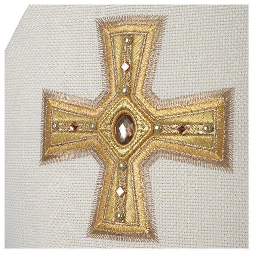 Mitra Limited Edition Croce nastro e pietre 4