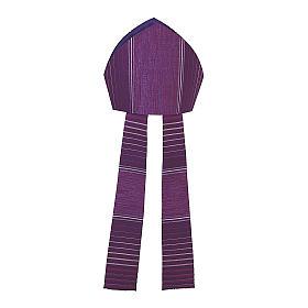 Mitra viola rigata in lana lurex s2