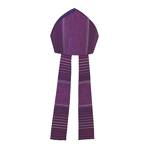 Mitra viola rigata in lana lurex 1