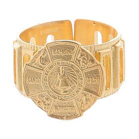 Bague chapelet en argent 925 Enfant Jésus de Prague s2