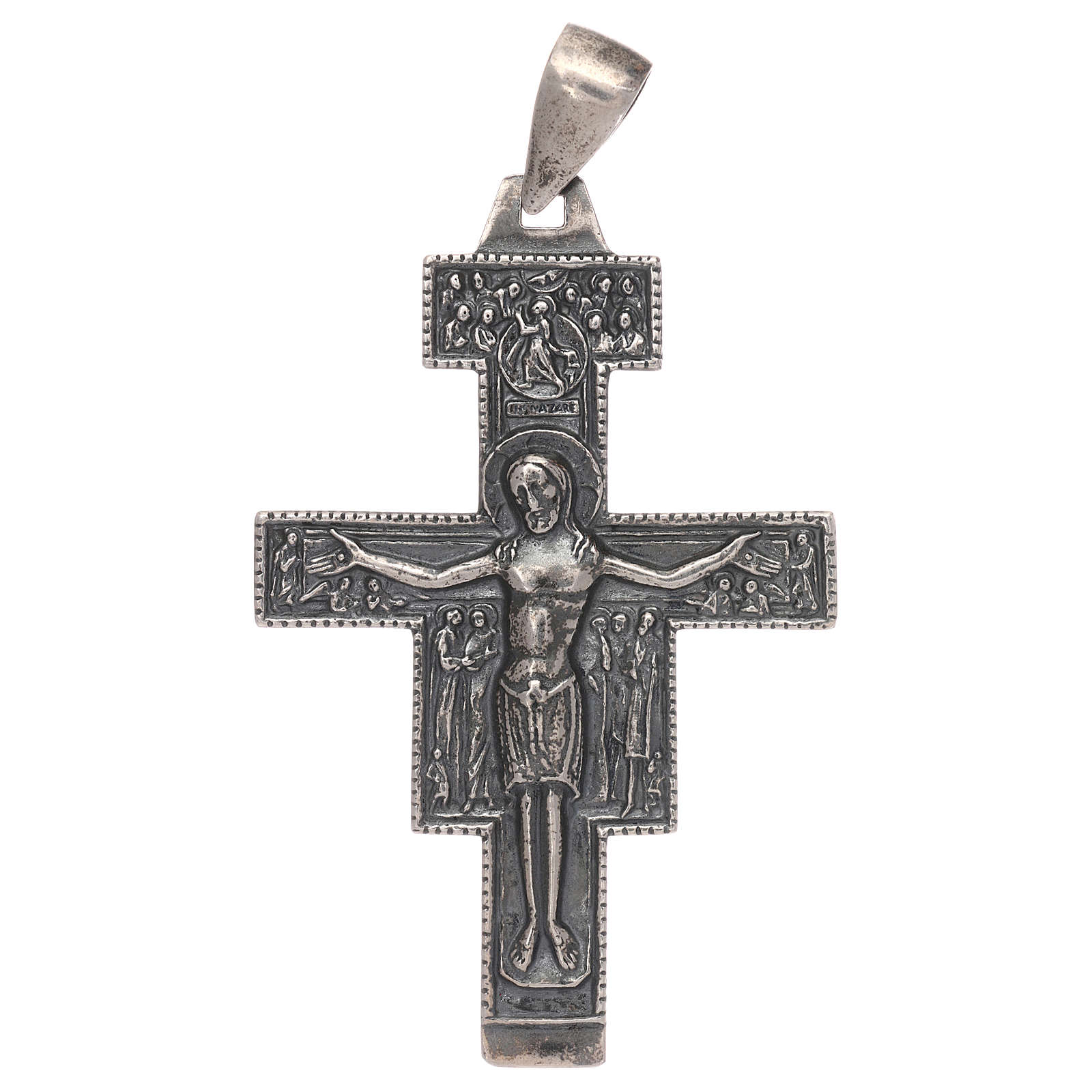 Cruz episcopal plata 925 3