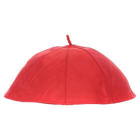 Solidéu em seda pura vermelha s2