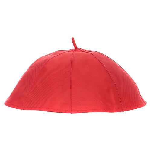 Solidéu em seda pura vermelha 2
