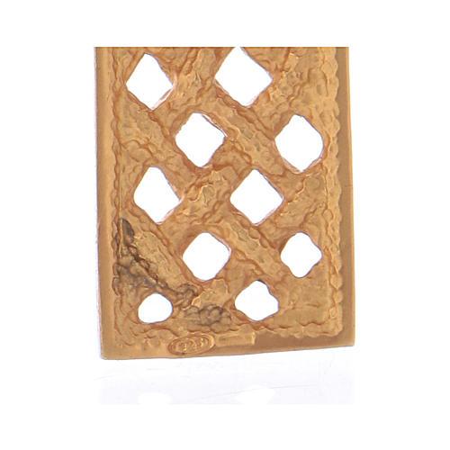 Croce pettorale intrecciata argento 925 dorato 4