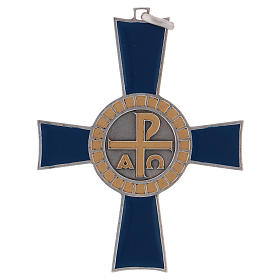 Croce pettorale Alfa e Omega argento 925 s1