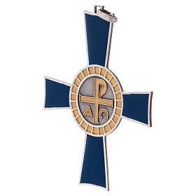 Croce pettorale Alfa e Omega argento 925 s3