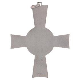 Croce pettorale Alfa e Omega argento 925 s5