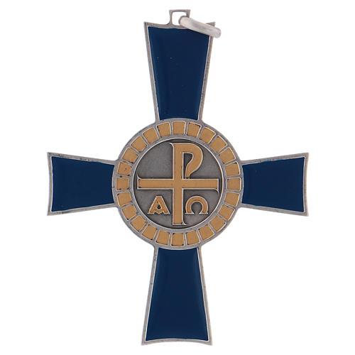 Croce pettorale Alfa e Omega argento 925 1