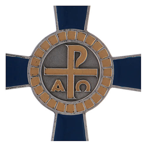 Croce pettorale Alfa e Omega argento 925 2