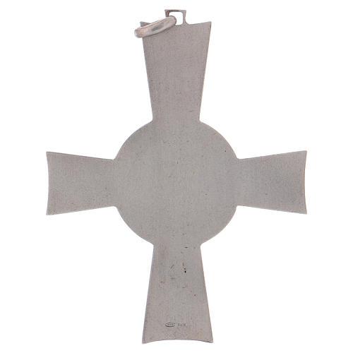 Croce pettorale Alfa e Omega argento 925 5