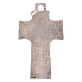 Cruz pectoral con piedra sólida natural plata 925 s5
