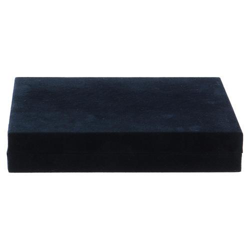 Cruz pectoral con piedra sólida natural plata 925 6
