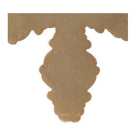 Croce pettorale con corniola e lapis argento 925 dorato s4