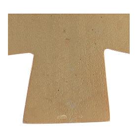 Croce pettorale dei quattro evangelisti argento 925 dorato s4