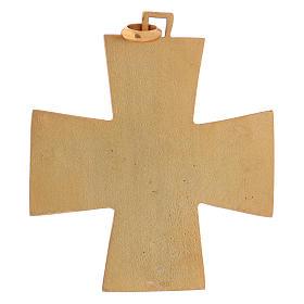 Croce pettorale dei quattro evangelisti argento 925 dorato s5
