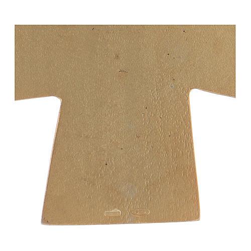 Croce pettorale dei quattro evangelisti argento 925 dorato 4