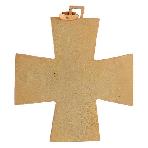 Croce pettorale dei quattro evangelisti argento 925 dorato 5