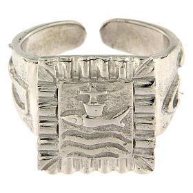 Anillo episcopal con pez plata 925 s2