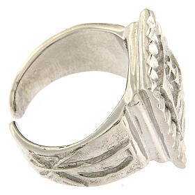 Bishop ring with fish in 925 silver s3