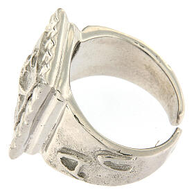 Bishop ring with fish in 925 silver s4