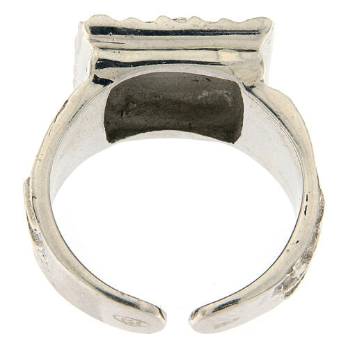 Bishop ring with fish in 925 silver 5